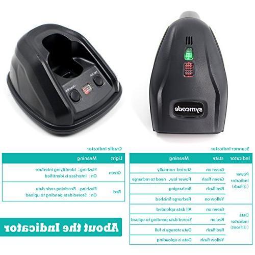 1D Scanner,Symcode Barcode Reader Wireless Transmitting Distance 300-400 Meters