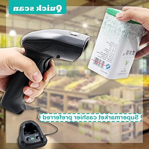 1D Cradle Barcode Scanner,Symcode 433MHZ Barcode Charge Station Wireless Meters
