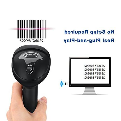 BLUEHRESY CT007X Rechargeable Barcode Scanner