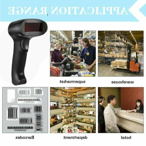 F5 Wired Barcode Scanner - Automatic Laser Reader