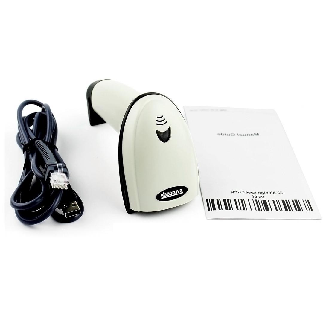 <font><b>Symcode</b></font> Laser Handheld <font><b>Scanner</b></font> White