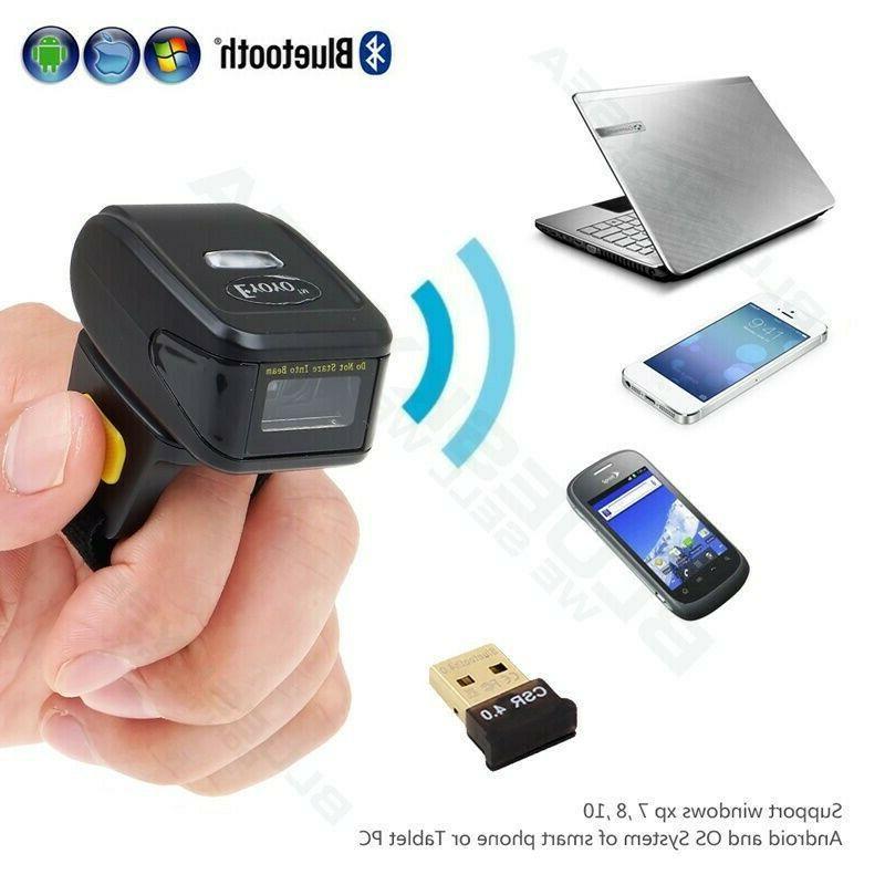 Eyoyo Handheld 1D QR Scanner Wearable Ring