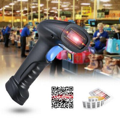Aibecy 2.4G Wireless 1D/2D/QR Label Barcode Reader Scanner w