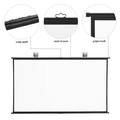 """120"""" 16:9 Projection Projector HD Wall Mount"""