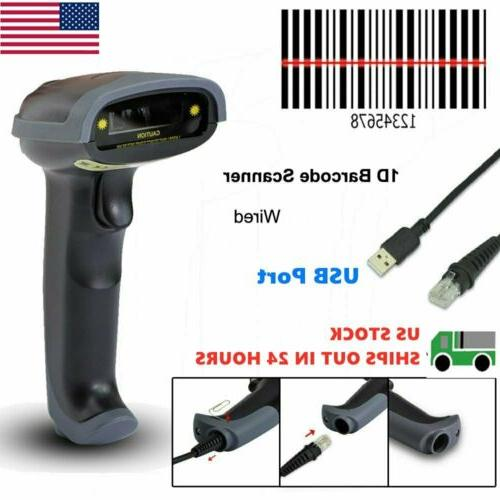 Portable Laser Barcode Scanner Gun USB Cable Handheld Laser