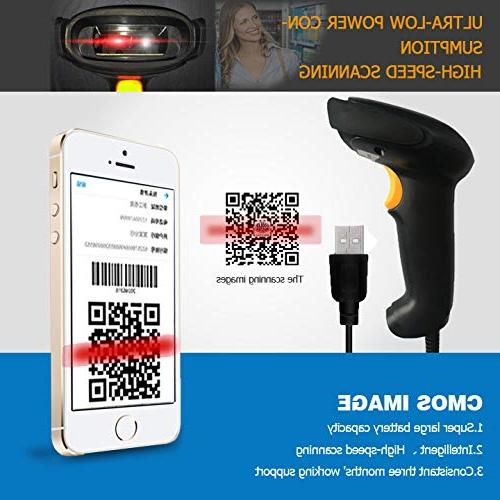 NYEAR Wired Barcode 1D 2D Code with Scan for Computer Windows with Cable 1D 2D(Bring