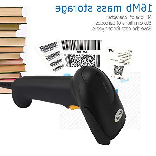 NYEAR Handheld Barcode 2D Handheld Inventory Code with Scan for Windows with USB 1D and