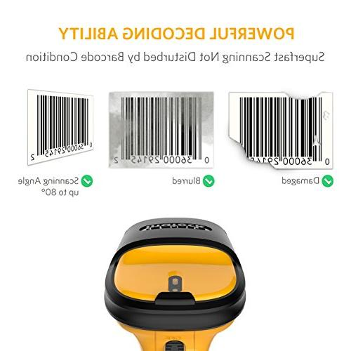 Inateck Wireless Laser Barcode Scanner, 2600mAh 60m and Precise scanning, Working Time 1 P6