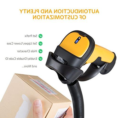Inateck 2.4GHz Barcode Scanner, 2600mAh 60m and Precise scanning, Time Approx. 1 P6