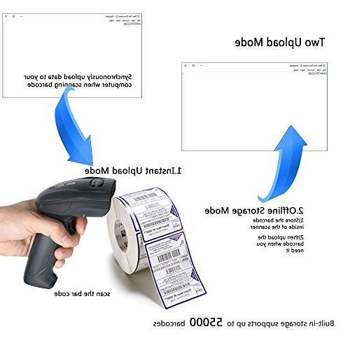 TaoHorse Barcode with USB Charging Handheld 1D Bar Reader Inventory POS PC Range