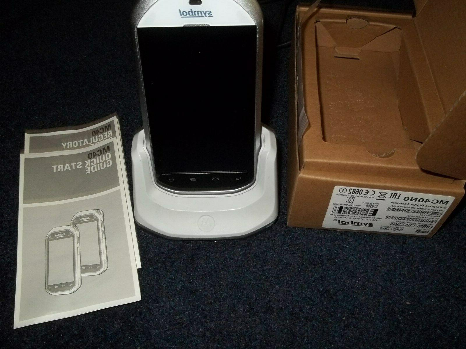 mc40n0 mobile computer barcode scanner with charger