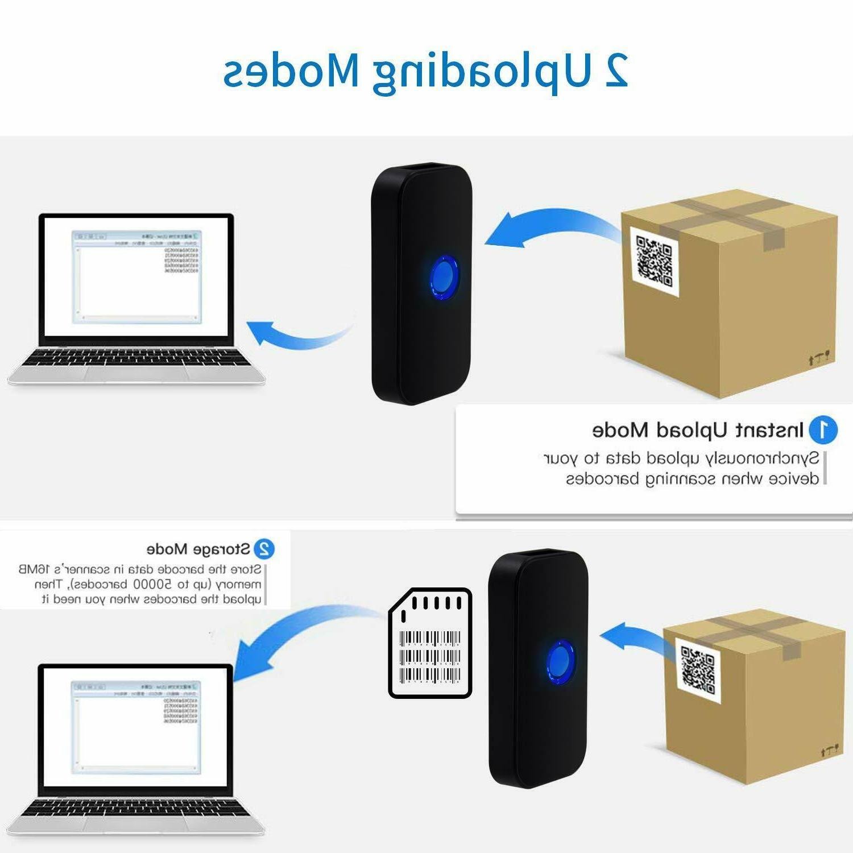 Mini Bluetooth Scanner Portable 1D QR Image