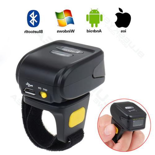 Mini Finger Bluetooth Scan Barcode SCANNER Bar Code USA