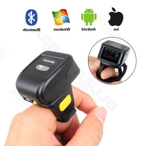 Mini Handheld Bluetooth Finger Wear Barcode Scanner Reader F