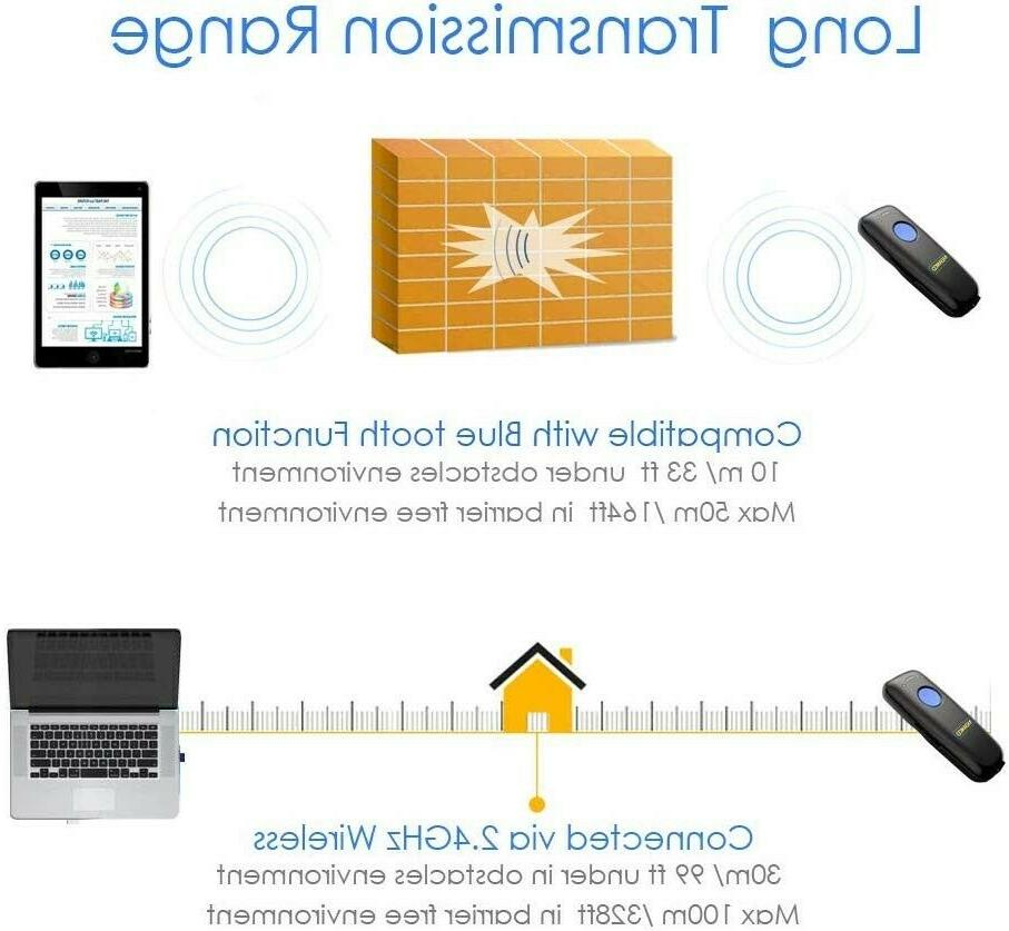 NEW! Barcode Scanner, with Bluetooth Function.