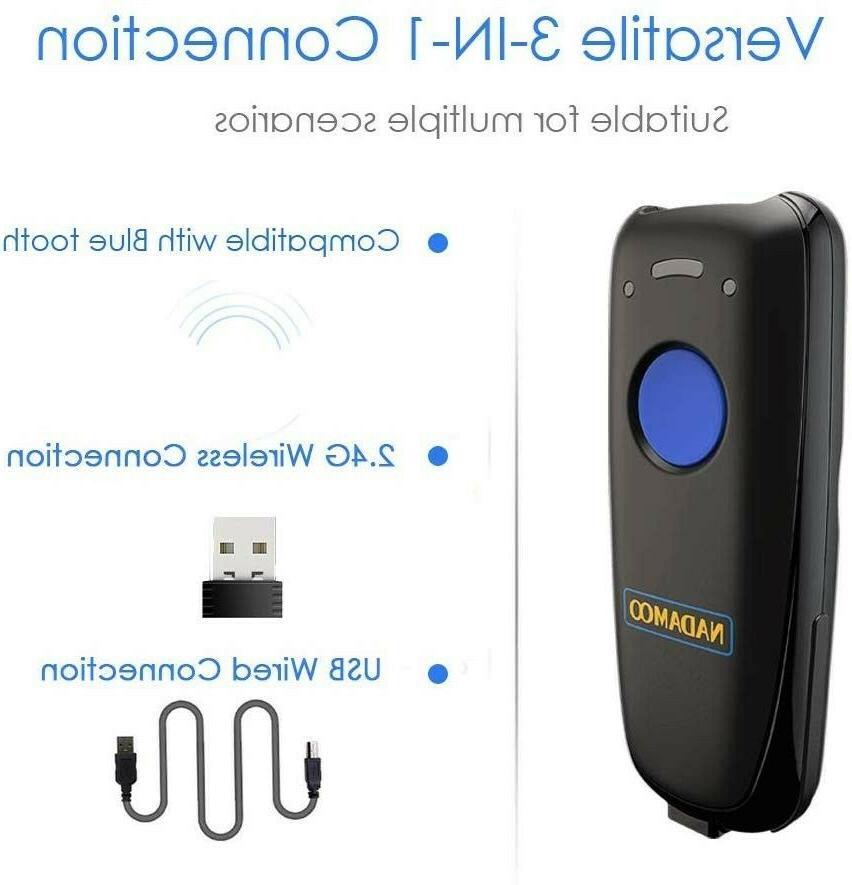 NEW! NADAMOO Wireless Barcode Scanner, Bluetooth Function.