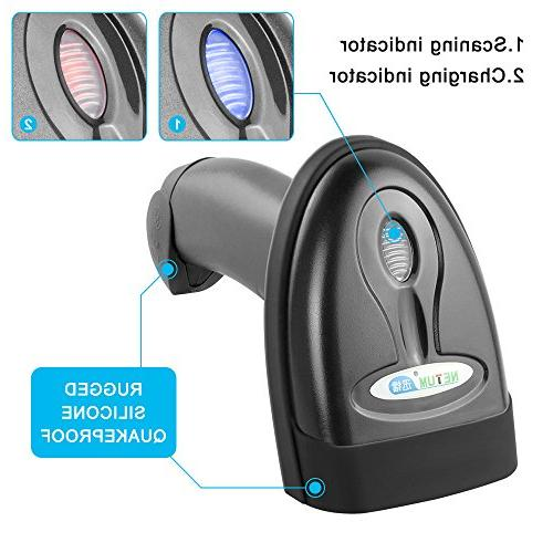 NETUM Bluetooth CCD Barcode Scanner Wireless Barcode Handheld USB 1D Code for POS Android iMac Ipad System