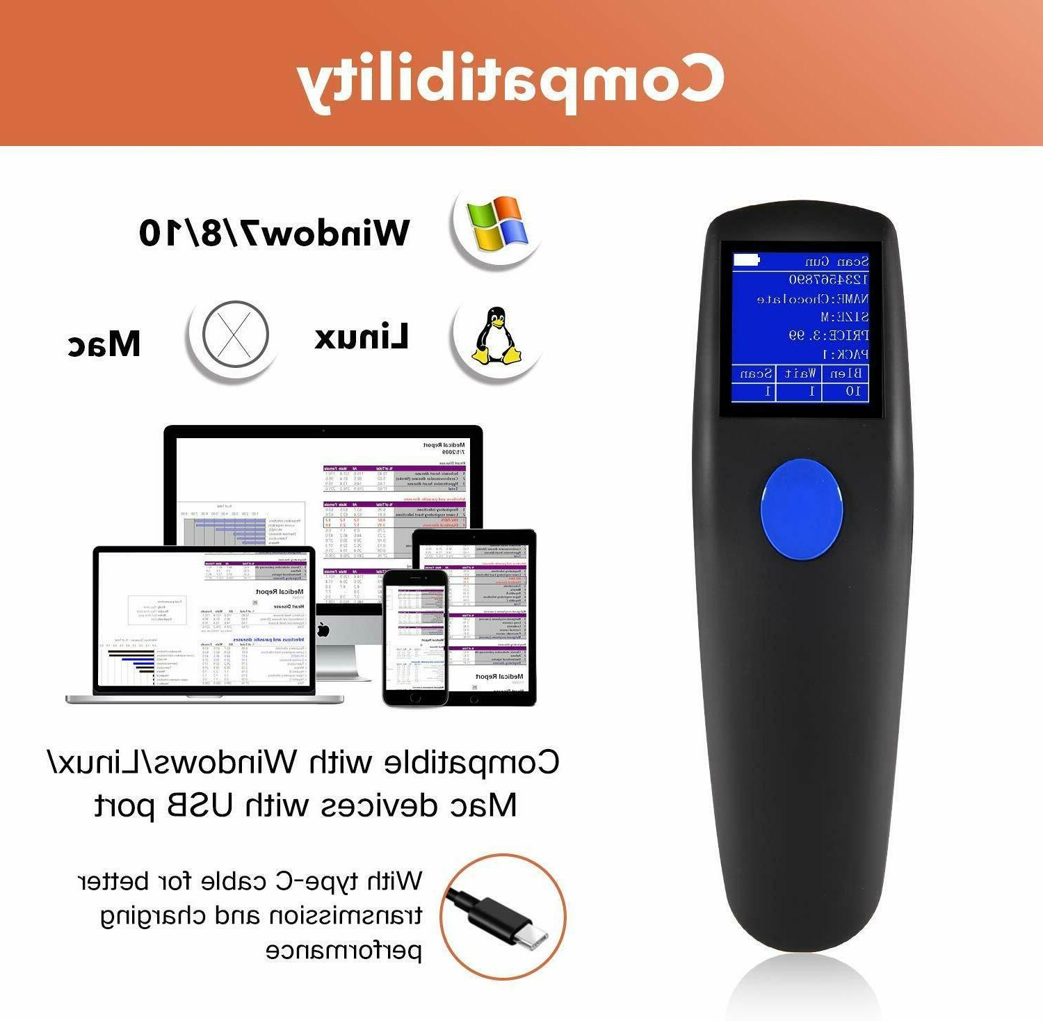 Wireless Barcode Portable Bar Code Inventory Wired