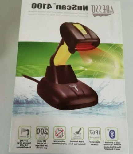 nuscan 4100 wireless bluetooth barcode scanner shock