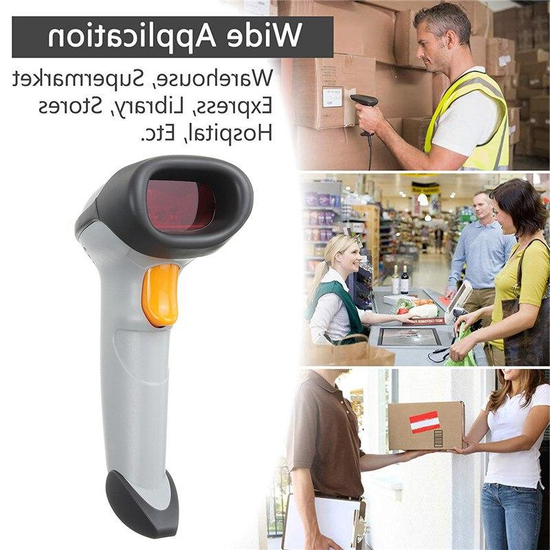 Portable <font><b>Barcode</b></font> <font><b>Wireless</b></font> Bar Laser <font><b>Barcode</b></font> <font><b>Scanner</b></font> Wired For Win 7/8/10/XP/Mac Set