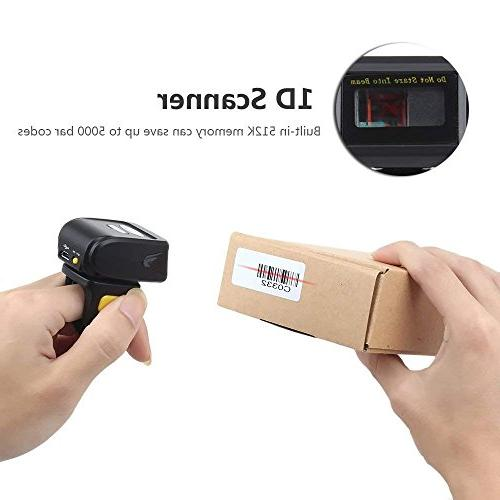 Barcode Scanner 1D Mini Finger Barcode Scanner Compatible for 4.0+/Windows/Mac