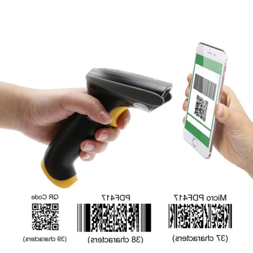 qr barcode scanner handheld automatic usb wired