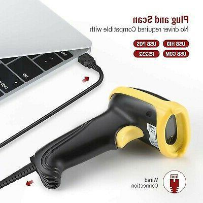 TaoTronics USB Barcode Handheld 1D Laser Scanner,