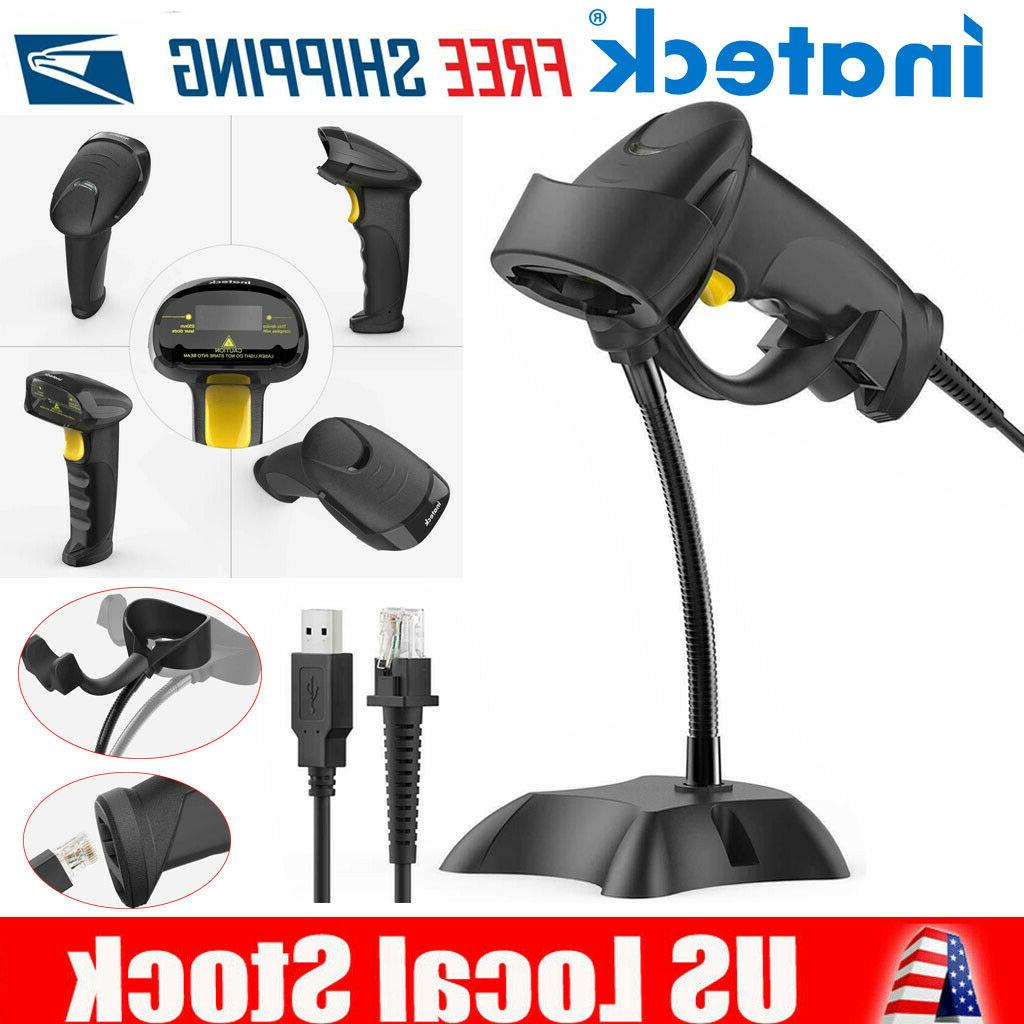 usb barcode scanner with stand 1d barcode