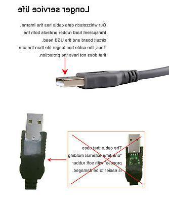USB Barcode Cord For Symbol LS2208 CBA-U01-S07ZAR 10