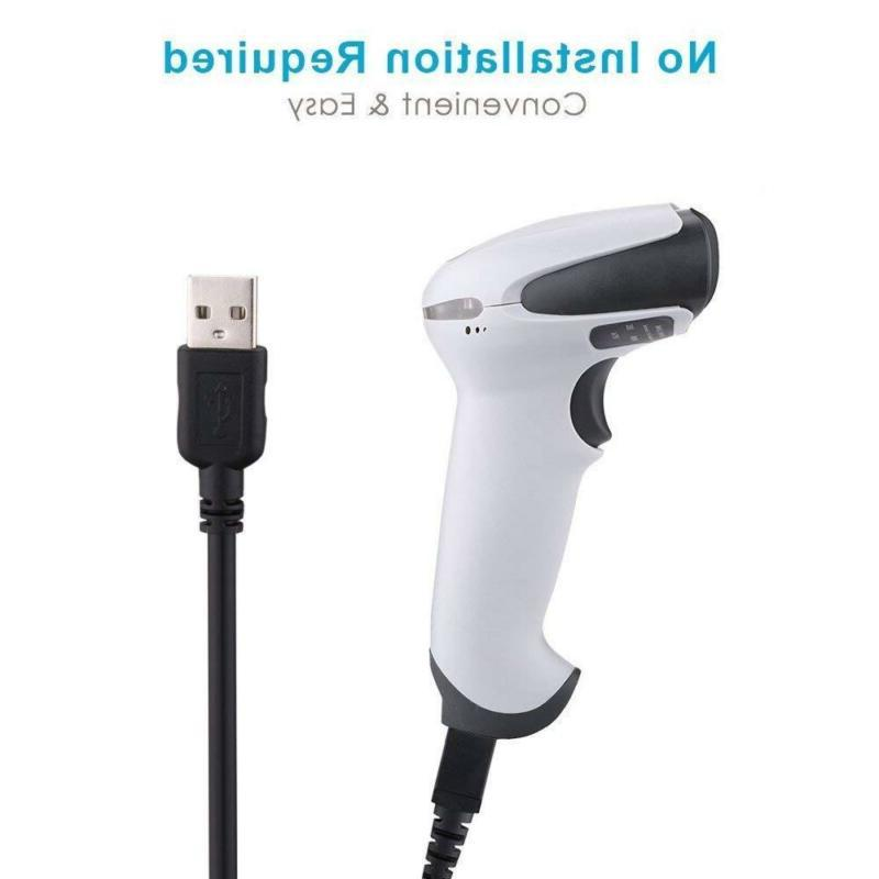 BEVA USB Barcode Automatic Wired Handheld White