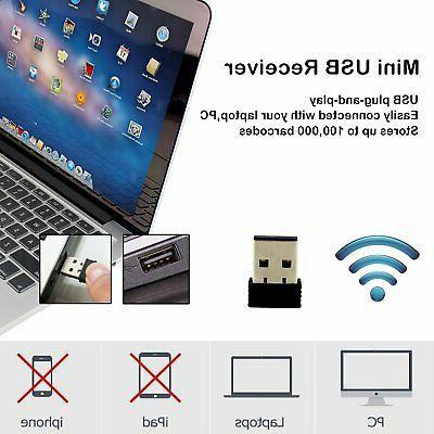 USB Wireless Barcode Scanner,Symcode Handheld Laser Barcode Reader (2.4GHz
