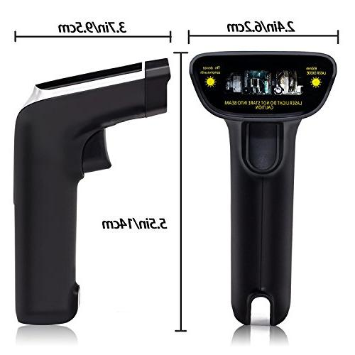 USB with Vibration Cordless Automatic Barcode Code Receiver Warehouse