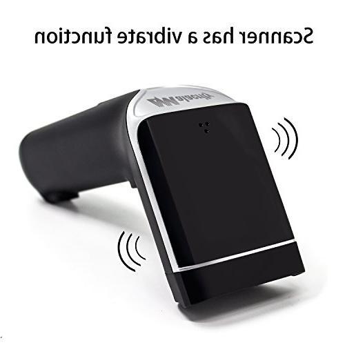 USB Wireless Barcode with Alert Function Cordless Laser Barcode Handhold Code Receiver Supermarket, Warehouse