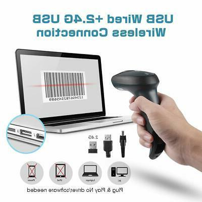 NETUM Wireless Barcode Scanner with with Wireless & Wi