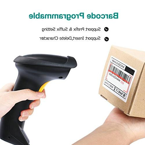NADAMOO Wireless 2-in-1 Wireless USB Wired Scanner Long up to Code Handheld Barcode