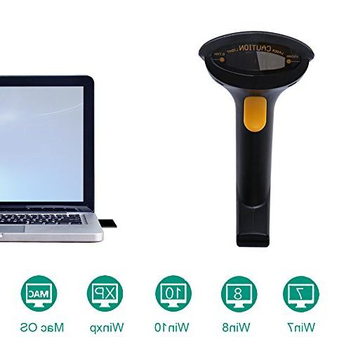 2-in-1 Wireless Wired Long Range up Code Portable Handheld Barcode Reader