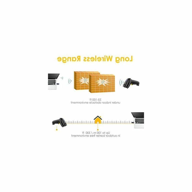 Wireless Scanner 328 Feet Transmission Distance USB Cordless NADAMOO