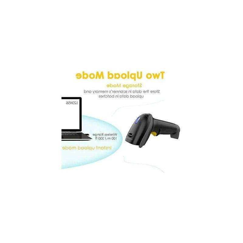 Wireless Barcode 328 Feet Transmission Distance Cordless NADAMOO