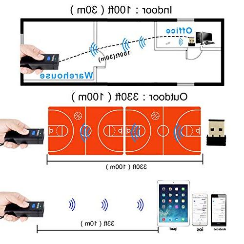 Wireless Scanner,Symcode Mini Portable Handheld CCD Scanner for POS/Android/iOS/iMac/Ipad
