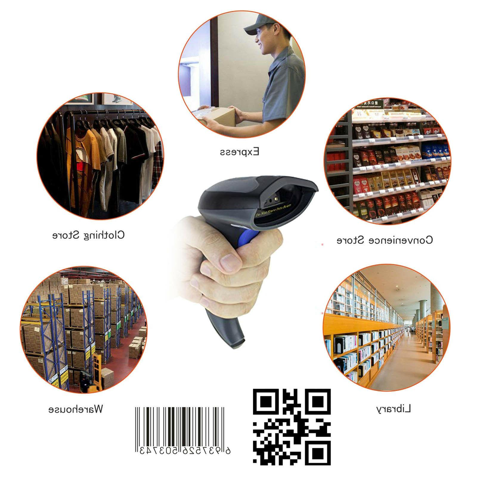 Wireless Bluetooth Barcode Scanner Handheld Laser Rechargeable