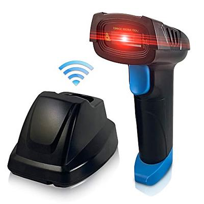 Central Essentials Wireless Barcode Scanner with USB Charging Cradle - Long  - 1D
