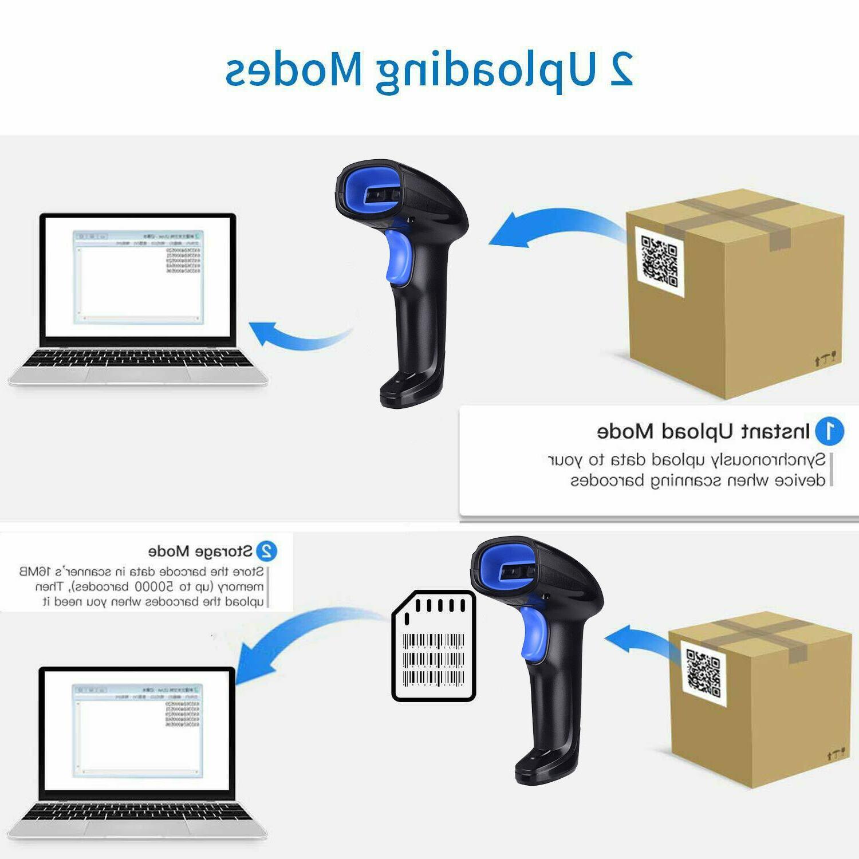 2.4Ghz Barcode USB Cordless 1D Laser Barcode Reader