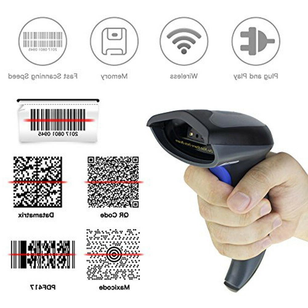Wireless Bluetooth 2.4G Barcode Scanner Laser