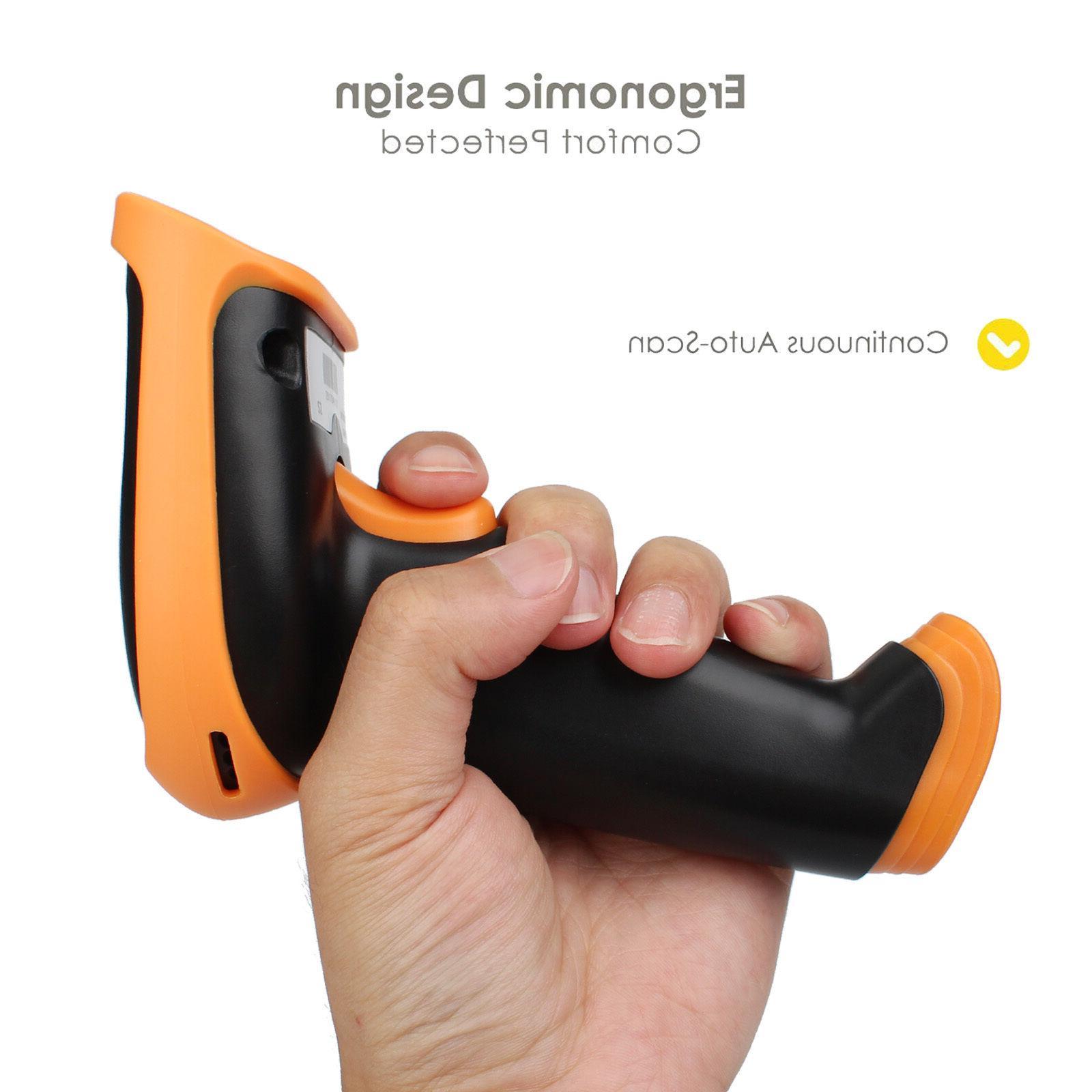 Premium Shockproof Wireless USB Laser Barcode