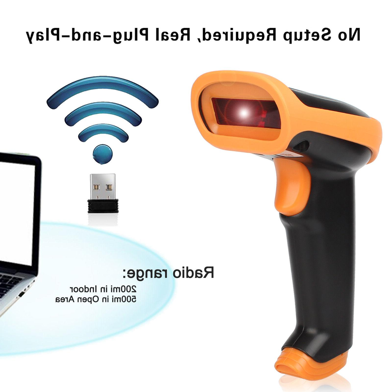 2.4GHz Wireless&USB2.0 Wired Rechargeable Automatic Barcode