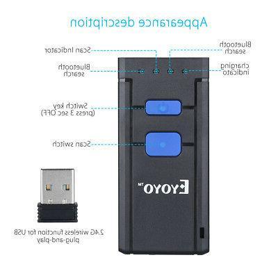 Eyoyo Wireless Barcode Laser Scanner For Smart