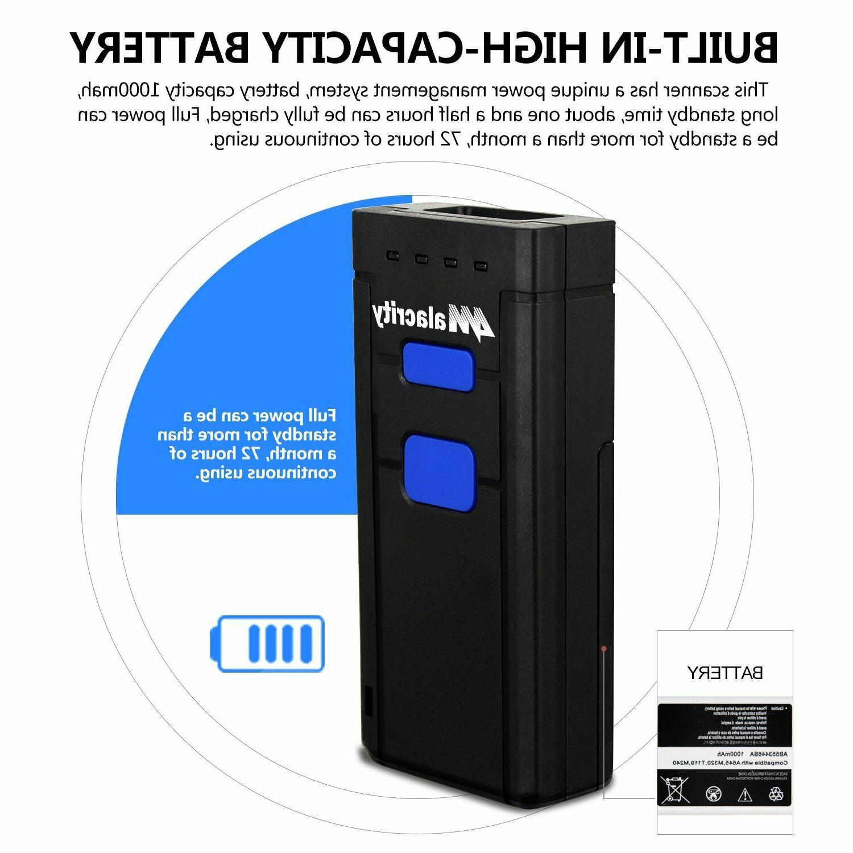 Wireless Bluetooth Laser Barcode Scanner Portable Scanner