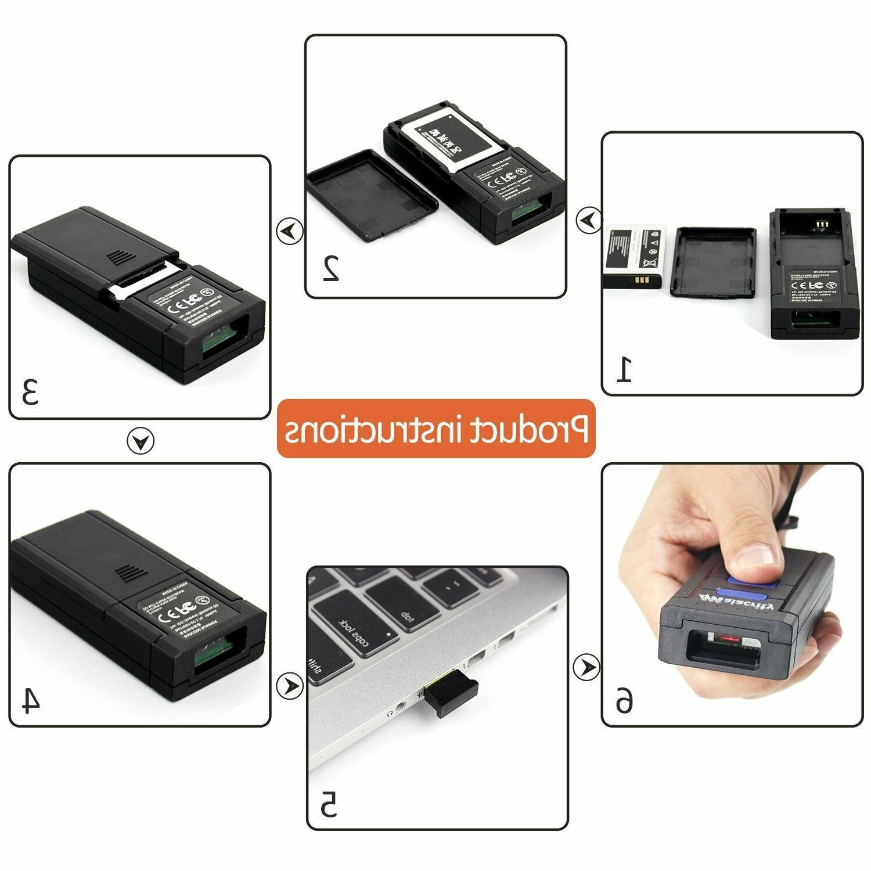 Wireless Laser Scanner USB Portable Scanner