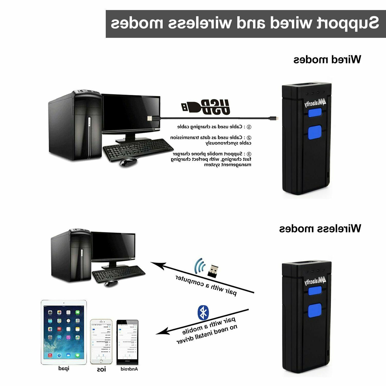 Wireless Bluetooth Laser Scanner USB Portable