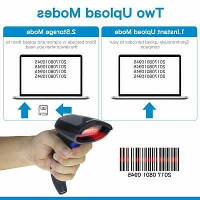 NETUM Barcode Scanner 2 2.4GHz Wireless Wired 1D